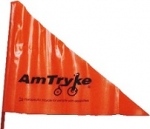 Safety Flag with Amtryke Logo and Bracket