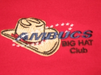 Men's Polo with Big Hat Logo