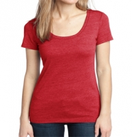 Ladies' Textured Scoop Neck Tee