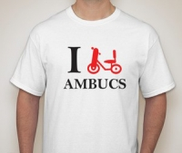I Bike AMBUCS T-shirt