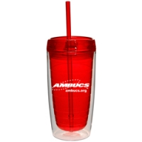 Insulated Tumbler with Straw